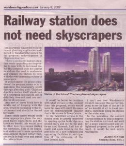 Railway station does not need skyscrapers