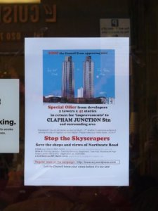 Stop the skyscrapers - shop window - credit: Julia Matcham