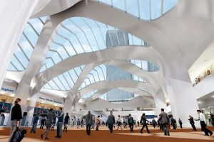 Artist view of New street station