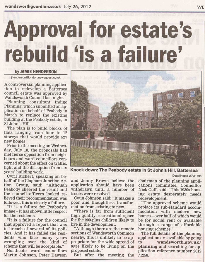 WG-20120726: Approval for estate's rebuild is a failure
