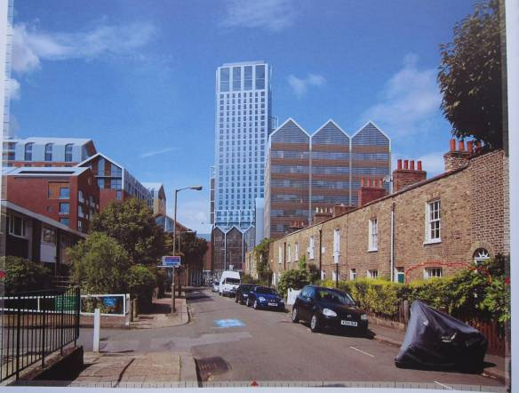 Developer image of Barchard Street taken with a 24mm wide angle lense