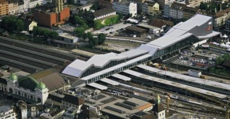 Basel station in Switzerland