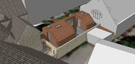 Proposed block of flat to replace existing church hall