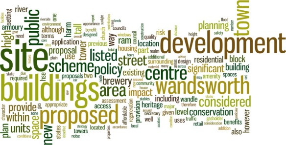 Tagcloud for officer's report = the most frequent words