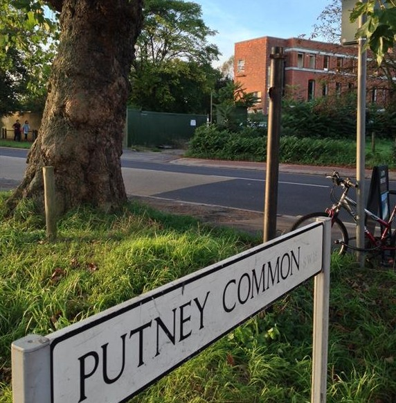 A view of Putney Common with the hospital in the background. September 2013.