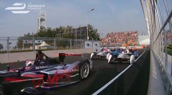 Formula E racing