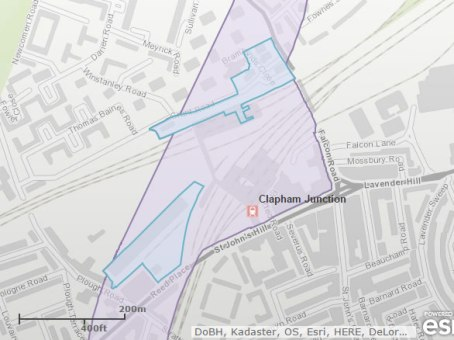 Blue Areas: These are areas where the Crossrail 2 proposals have a greater effect at ground level, such as for stations, temporary worksites or ventilation and emergency shafts.