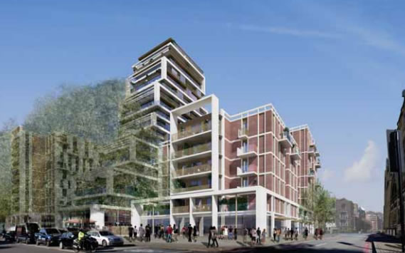 Proposed development for 198 York Road (currently Homebase)