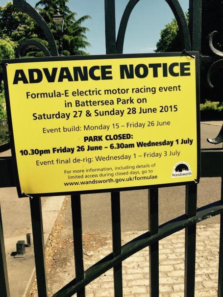 Park notice