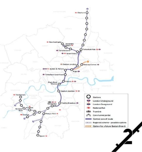 Crossrail2-map