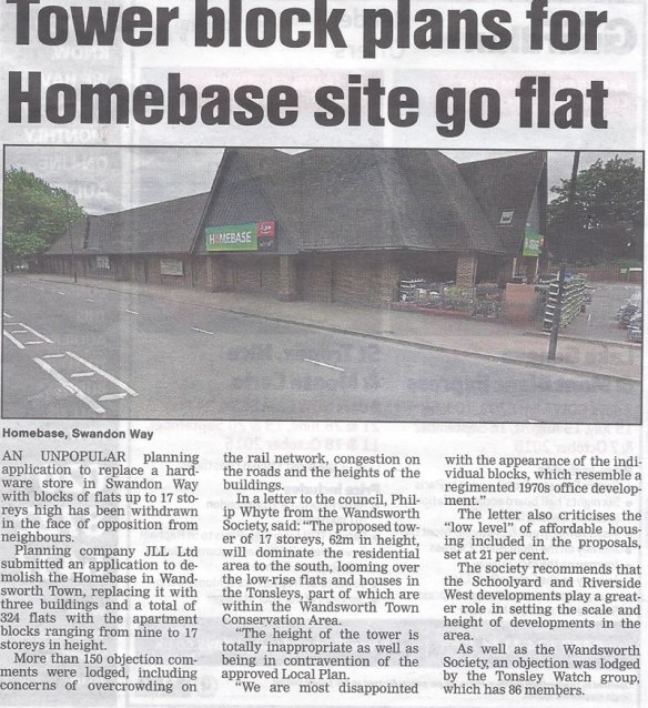 080416 Wandsworth Guardian Homebase Swandon Way