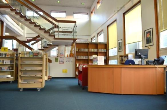 Inside the current Northcote library