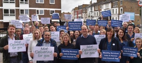 Wandsworth Conservatives - Not Delivering for You posters (original on wandsworthconservatives.co.uk)