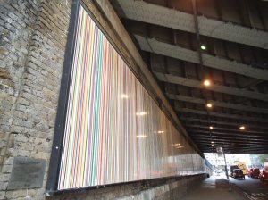 Poured Lines by Ian Davenport, Southwark Street, London SE1