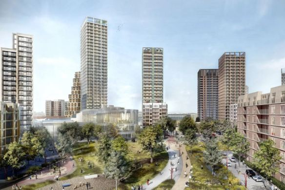 The plans for the Winstanley Estate in Battersea